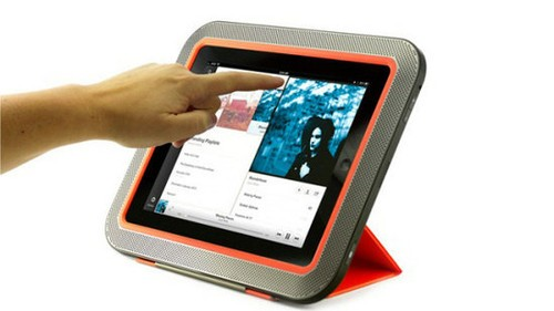 5倍音量 八个扬声器组成的iPad保护壳