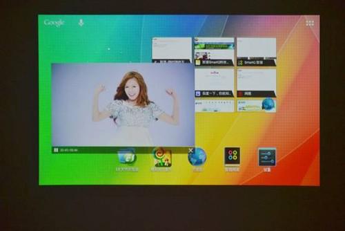 智器u7投影出平板电脑的内容
