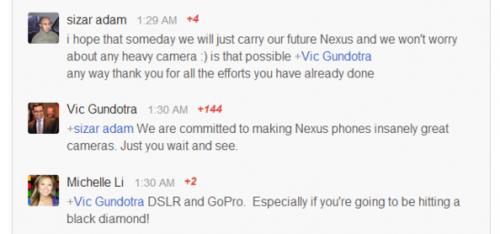 取代相机? 谷歌称Nexus手机拍照将提升