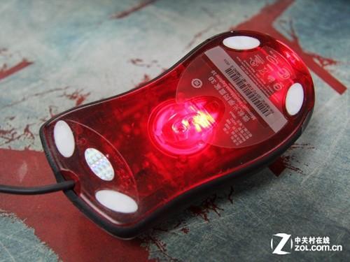 传统光电鼠标底部使用红色led光源为光学传感器提供照明