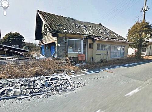 看谷歌街景抓拍日本核泄漏无人区现状