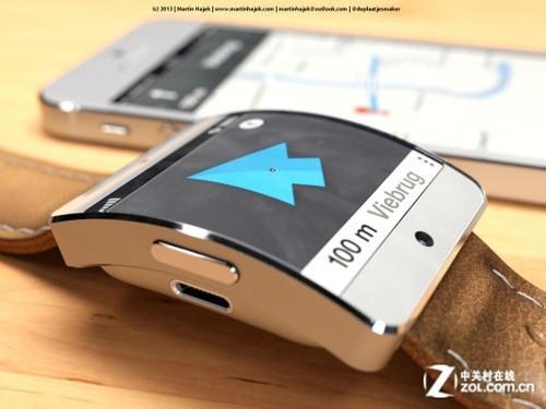 iWatch最新概念 可实现与手机地图互动
