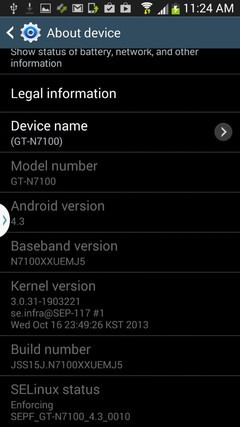 加入更多新功能 Note2安卓4.3固件泄露