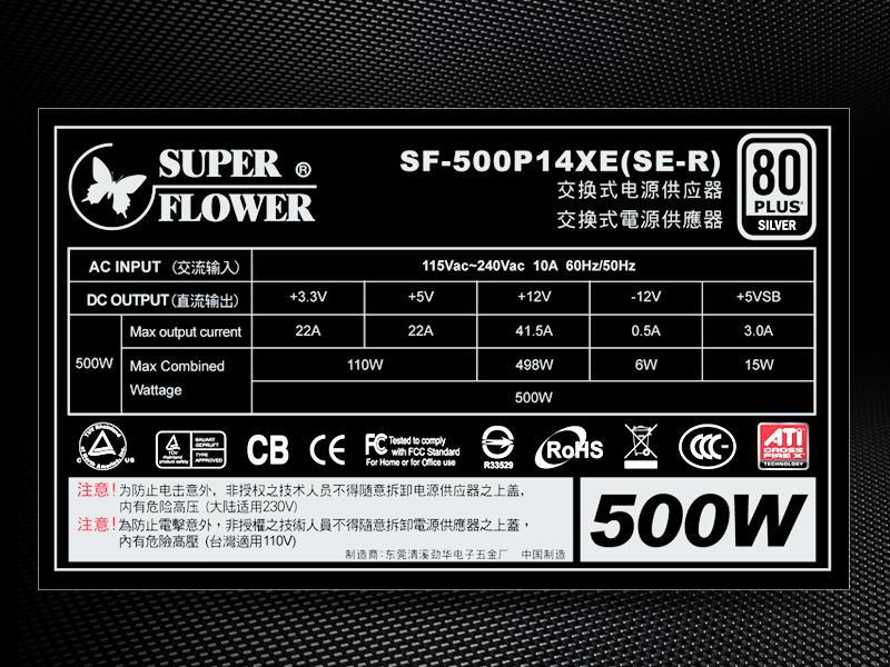 最炫酷的模组电源 冰山旗舰500W图赏