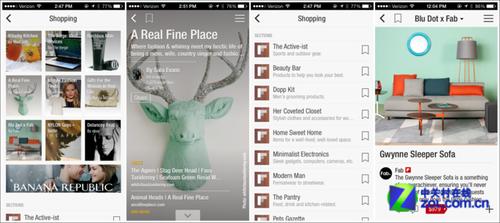 Flipboard添加购物元素 用户可自建目录