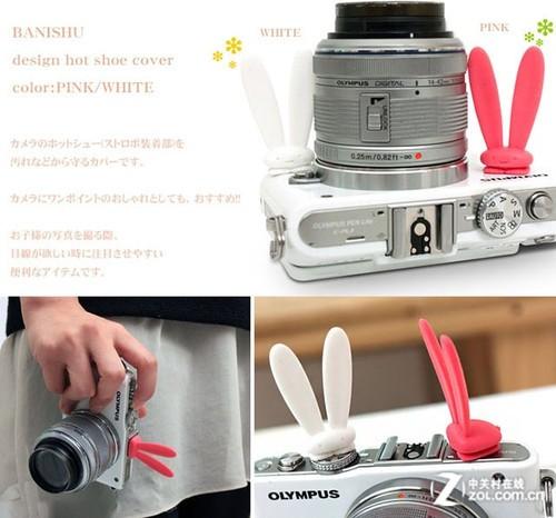 小巧可爱 BANISHU兔耳朵卡通热靴保护盖
