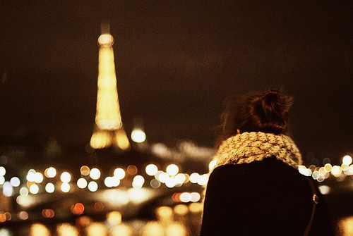 一個人看世界的燈火闌珊 唯美意境攝影圖片