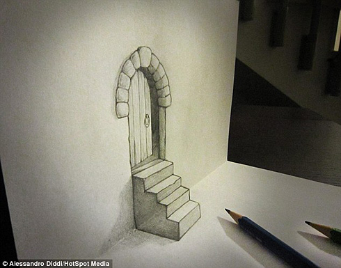 3d逼真铅笔绘画图片