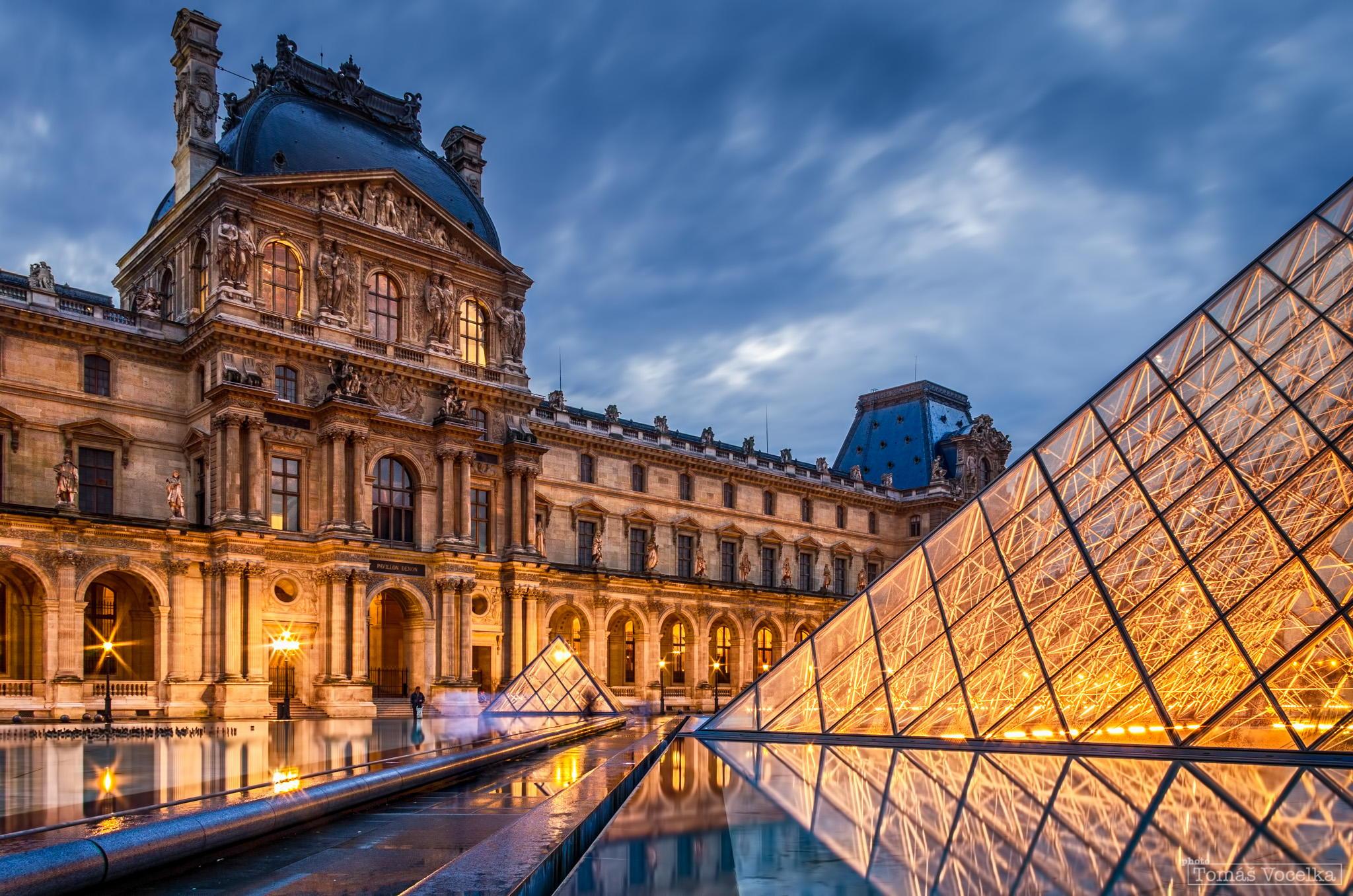 夜拍卢浮宫和埃菲尔铁塔-zol科技头条