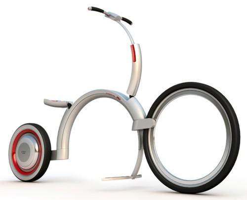 超折叠设计 蜗牛电动自行车时尚骑行-中关村在线
