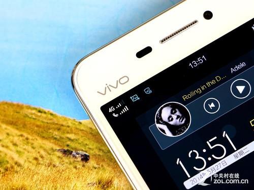 身正面左上方的vivo官方logo-6.75mm超薄 完美升级4G vivo X3L图赏