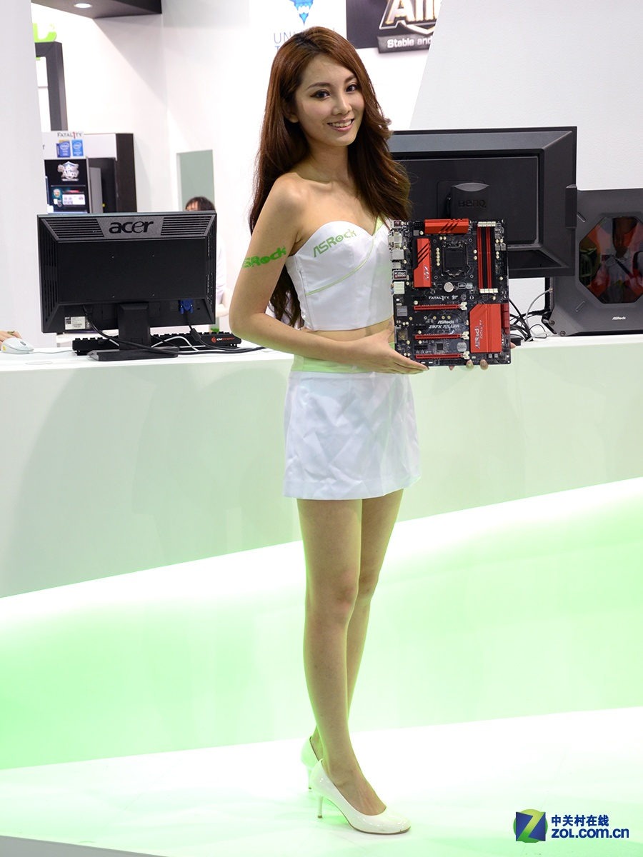 Computex 2014 诱惑嫩模图集大放送的照片 - 72