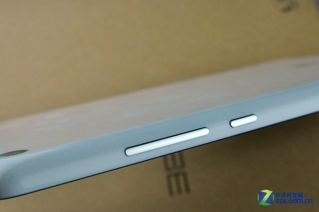 小米平板侧边音量加减键与电源按键
