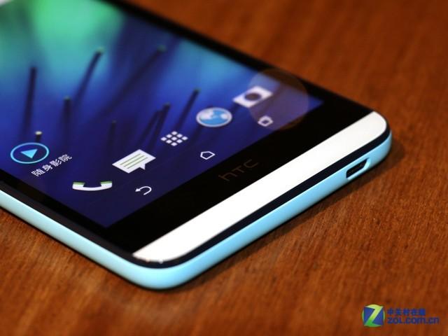 HTC Desire 826整体线条圆润,数据接口位于机身底部。不过HTC标志性的三层下巴仍然没有改变,因此屏占比并不是太高。