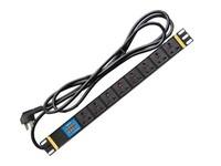 机房专用版PDU插座 大唐卫士DT8186 8位10A多用孔 电流电压显示