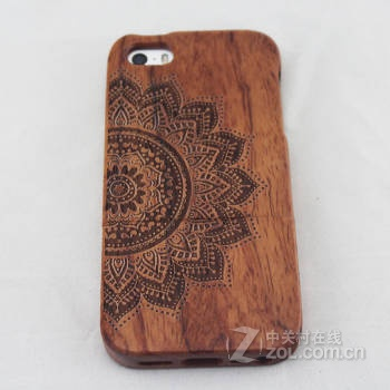 稀奇艾玛手机原木木质雕刻手机壳苹果iphone6/6plus iphone6半边花