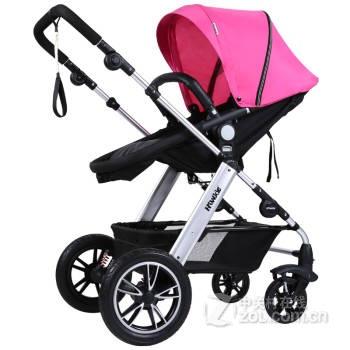 [预售]hiwide欧式豪华高景观可调节换向强避震四轮婴儿推车 902经典版