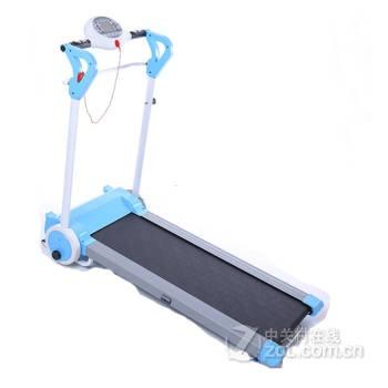 斯诺德智能跑步机家用正品 静音迷你折叠健身器材免安装 浅蓝色