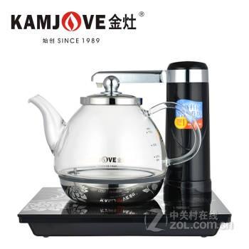 金灶自动上水玻璃保温电热水壶 智能感应自动加水电茶壶烧水壶电水壶