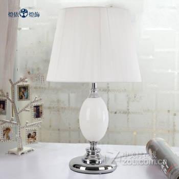 台灯卧室床头 创意欧式现代简约时尚温馨宜家 婚庆结婚装饰 b32 白色