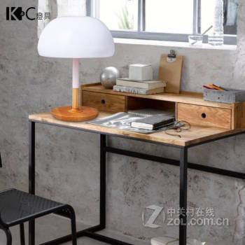 原木台灯创意书桌