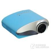 瑞格尔(Rigal)RD-802 家用包邮LED投影机 家用看片性价比之王 便携投影机 粉蓝色