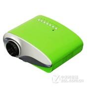 Rigal 802 迷你 家用LED微型投影仪 便携投影机连 电脑U盘TV手机投影仪 草绿色 标配