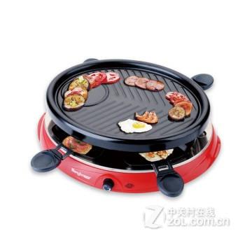 电烧烤炉 家用电烤炉无烟烤肉机韩式铁板电烤盘烤肉锅 3个月内坏了换