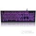 旗键KB912  有线发光键盘 三色背光游戏 类机械键盘手感 白色