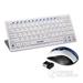 甲乙丙X10键盘鼠标套装笔记本台式电脑游戏无线鼠标键盘套装超薄键鼠套装特价静音无声键鼠 蓝白鼠标+白色键�