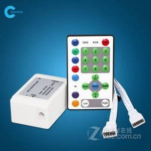 LED 灯带12V控制器24键 七彩控制器 带遥控器 跑马灯带控制器