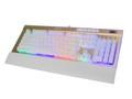 键双行 双子j-1000机械彩虹背光键盘