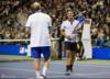 比尔盖茨和费德勒打网球