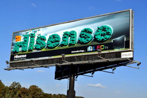 (图)南非高速公路旁边海信3d电视的广告牌