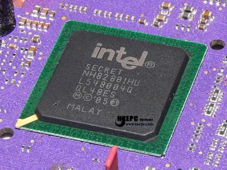 英P965-A南桥芯片-Conroe发布在即 首款P965 ICH8R曝光图片