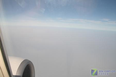 青岛回北京的飞机上所拍摄到图片