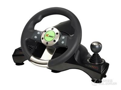4皇冠信誉 莱仕达 锋驰有线振动赛车方向盘BX-G16