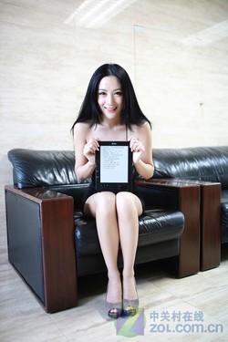 8吋大屏电纸书 汉王N800职场美女图赏