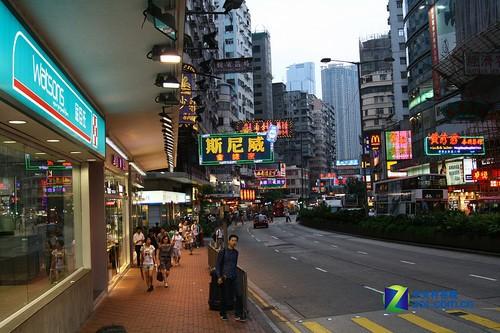 街拍香港繁华闹市区 一 高清图片