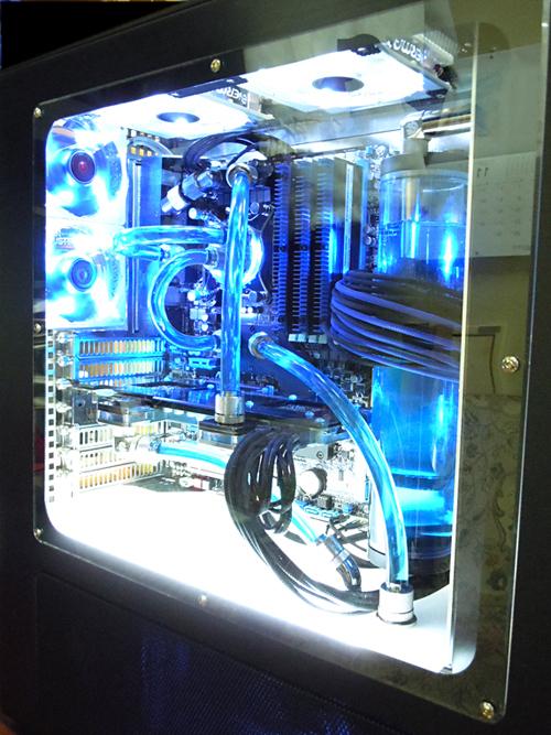 水冷与led灯完美结合 mod机箱改造图赏