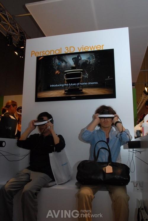 1声道音响 索尼展示720p眼镜影院