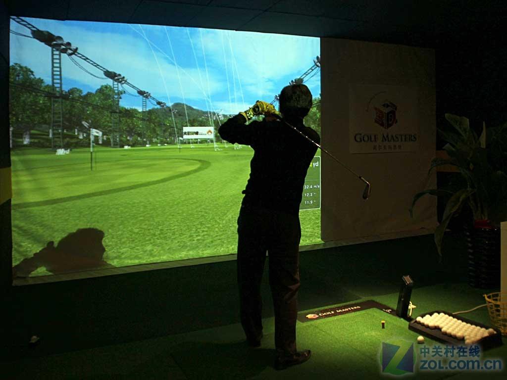 室内高尔夫 用3d投影实现立体健身影院