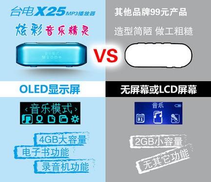 99元!炫彩音乐精灵——台电X25上市!