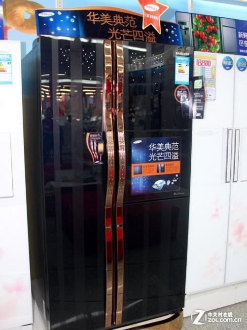 高效变频压缩机 三星对开门冰箱28900元
