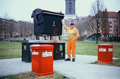 德国清洁工用垃圾桶制作相机