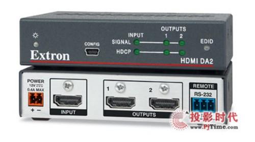 extron电子 hdmi分配放大器现已供货