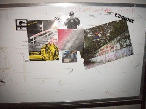 滑板社第一期纯手工海报宣传(图片来源于编辑)