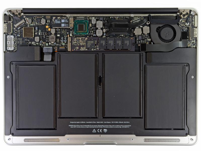 苹果笔记本内部结构