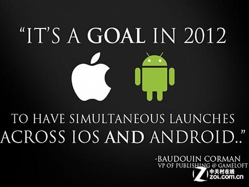 Gameloft承诺在Android和iOS上同时发布