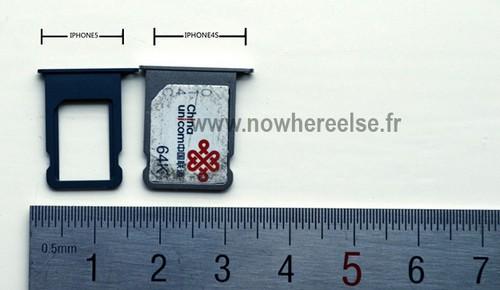 苹果iphone+5所用nano-sim卡槽曝光